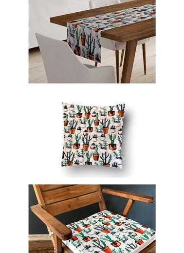 Lyn Home & Decor 3'lü Kombin Kaktüs Renkli